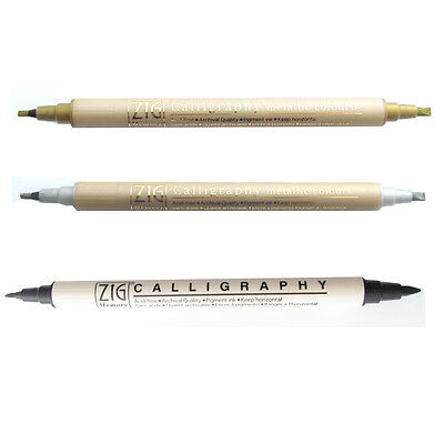 ZIG Memory System Double Ended Calligraphy Pens. Artists Writing Pen.