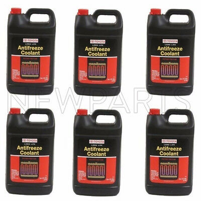 6 Gallon Pack GENUINE for TOYOTA Red Long Life Engine Coolant Antifreeze Fluid