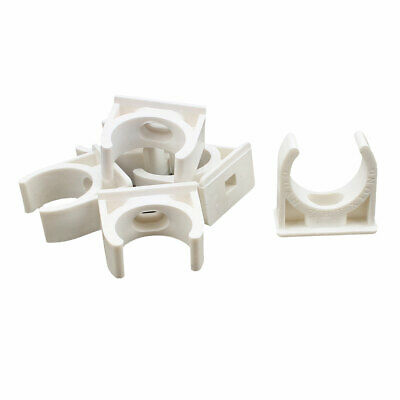 6PCS 25mm Diameter White PVC Water Tube Pipe Hose Fitting Clamps Clips