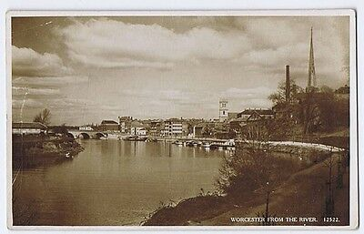 WORCESTER From the River, RP Postcard By Salmon Unused