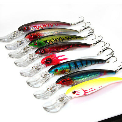 16.5cm Minnow Fishing Lure Saltwater Hard Bait 3D Eyes Plastic Wobbler Japan