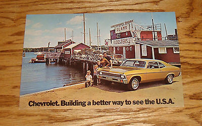 Original 1972 Chevrolet Nova Coupe Large Post Card 72 Chevy