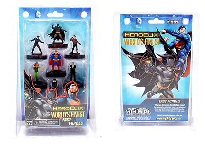 HeroClix DC Comics The World's Finest Fast Forces Pack Wizkids Free UK P&P