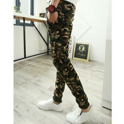Mens Camo Military Camouflage Pants Joggers Sport Running Sweatpants Trouser S