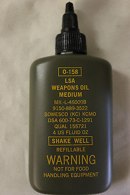 US Military Issue Vietnam Era LSA Weapons Oil 4oz. Bottel  Dated 1973