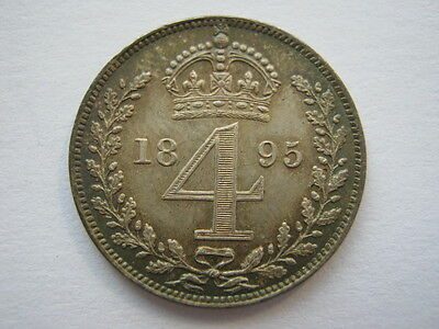 1895 Maundy Fourpence