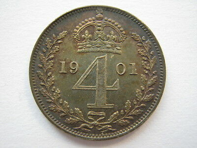 1901 Maundy Fourpence