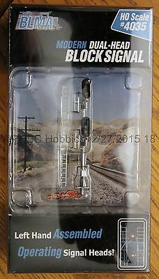 HO Scale - BLMA Models 4035 Lt Hand Modern Dual-Head Block Signal - Operating