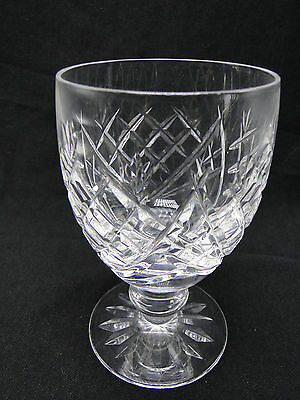 Waterford Donegal Water Goblet Glasses 5 1/4in Clear Cut Crystal