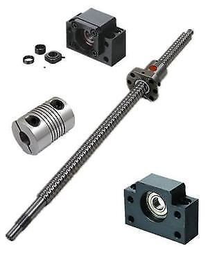 Ballscrew SFU1605 L200-1200mm-C7+BK/BF12+ 2pcs 6.35*10mm Couplers+End Machining#