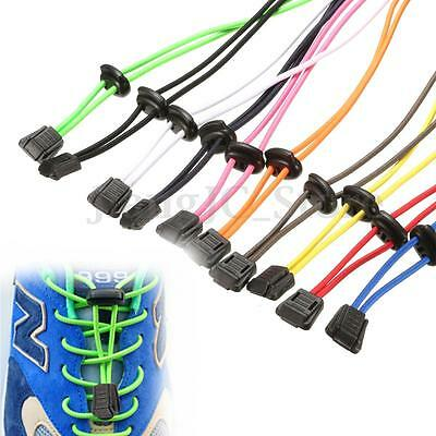 1 Pair No-Tie Locking Elastic Sport Shoelaces Shoe Laces For Running Sneakers