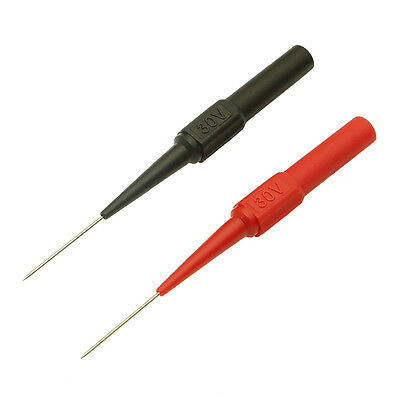 2pcs 1A Insulation Piercing Needle Copper Test Probes Needle Tool Red/Black