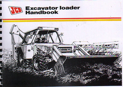 JCB Excavator Loader Operators Handbook Manual