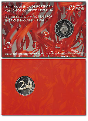 "Portugal 2 Euro 2016 ""Olympiade-Team Rio"" Blister Polierte Platte (PP) proof"