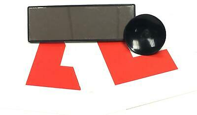 Car Mini Suction Rear View Wide Angle Mirror Learners Driving Kit with L Plate