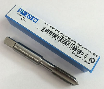 """Presto UK 3/8"""" x 24tpi HSS UNF Second Tap / Direct from RDGTools"""