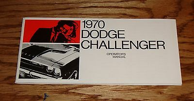 1970 Dodge Challenger Owners Operators Manual 70