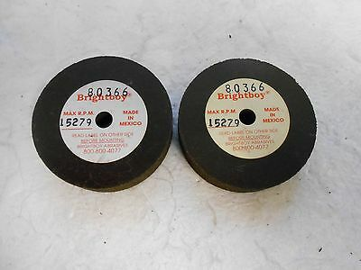 "Cratex Brightboy 80366 Surface Grinding Wheel 46 Grit 2"" Diameter QTY 2"