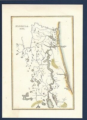 Florida 1560 Map St Augustine St Johns River Fort Carolina Anastasia Island