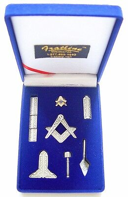 Masonic Mini Working Tool Gift Set with Lapel Pin (Antique Silver Finish)