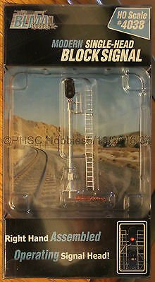 HO Scale - BLMA Models 4038 Rt Hand Modern Single-Head Block Signal - Operating