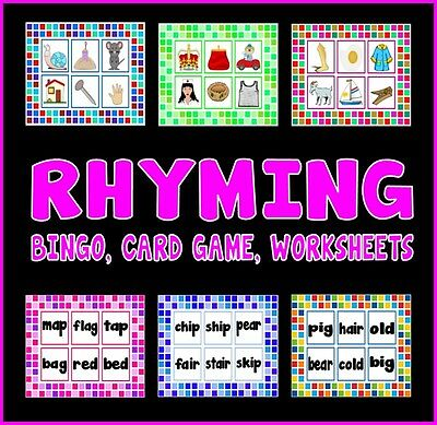 Cd Rhyming Teaching Resources  Eyfs Ks1 Letters Sounds Bingo, Cards, Worksheets