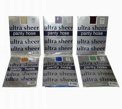 Lot of 50 Pieces Ultra Sheer Assorted Color Pantyhose - One Size Fits 5' - 5'9""