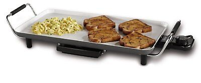 Oster DuraCeramic Griddle with Drip Tray, Black/ Créme | CKSTGR18WC-ECO
