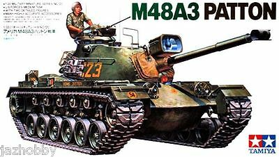 Tamiya 35120 1/35 Scale Military Model Kit US Force M48A3 Patton Medium MBT Tank