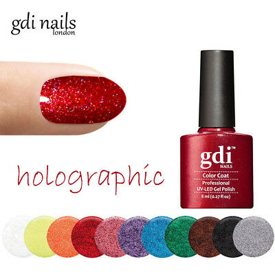 Fine Holographic Glitters By gdi nails UK UV/LED Soak Off Gel Nail Polish