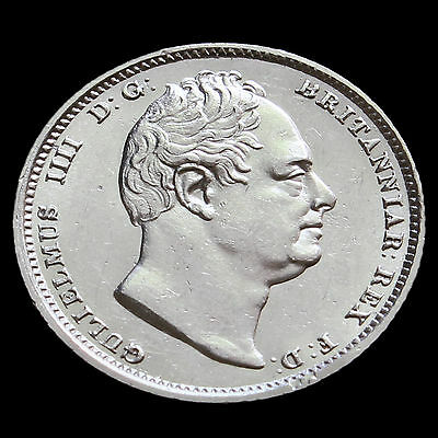 1834 William IV Milled Silver Sixpence