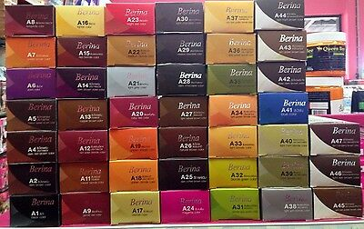 1 Pack of Berina Permanent Hair 47 Colors Cream Hair Style Dye Professional Use