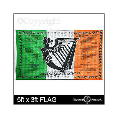 5' x 3' FLAG The Soldiers Song Ireland Irish Eire Large 150x90cm Flags