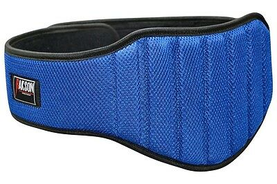 Blue 8 Inch Wide Support Mesh Padded Weight Lifting Belt Gym Fitness Rkw-202FG