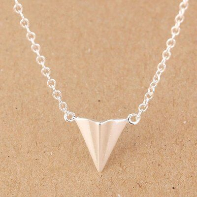 Womens 100% 925 Sterling Silver Jewelry Triangles Pendant Necklace DS503