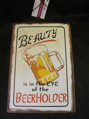 NEW Beer Alcohol Humorous Metal Hanging Sign  FREE SHIPPING