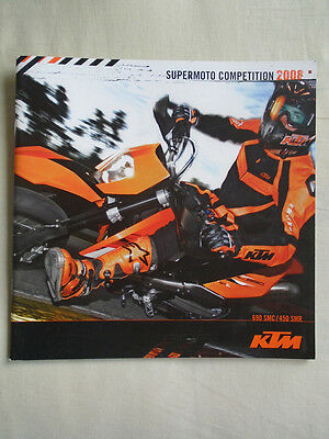 KTM 690 SMC 450 SMR Supermoto Competition motorcycle brochure 2008 English text
