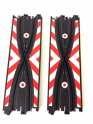 "9"" Criss Cross Crossover Pair AFX Tomy Aurora Racemasters AW Auto World HO Track"