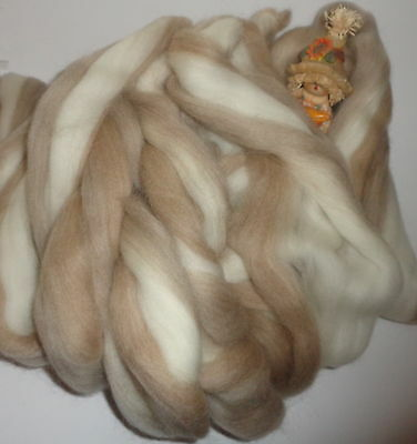 Beautiful Tops/rovings Blend Champagne' Corriedale Spinning  Machine Washable