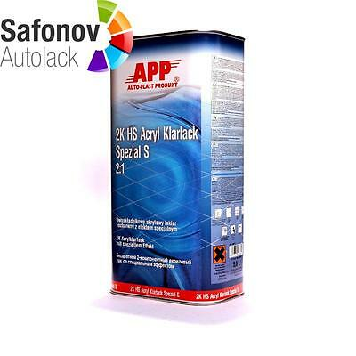 APP 2K HS Clear varnish special S (anti scratch with Effect)2:1 5 Liter 020110