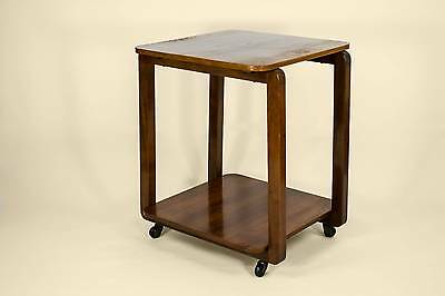 Modernist Drinks Tea Trolley on Wheels Vintage English circa 1950