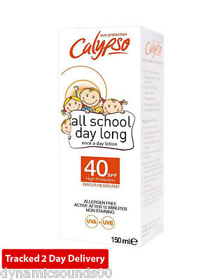 Calypso CALC40 All School Day Long Once A Day Lotion SPF40 150ml