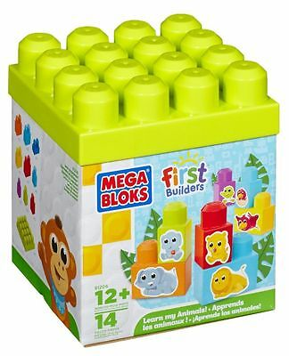 Mega Bloks First Builders Learn My Animals Building Brick Toy Set
