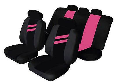 VOLKSWAGEN VW POLO Universal Car Seat Covers PINK STRIPE