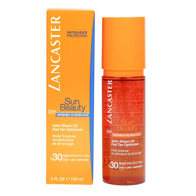 Lancaster Sun Beauty Satin Sheen Oil Fast Tan Optimizer Spf30 150ml - New In Box