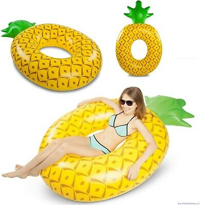 "BigMouth Inc - Giant 6"" FOOT Pineapple Inflatable Swimming Pool Float Raft Tube"