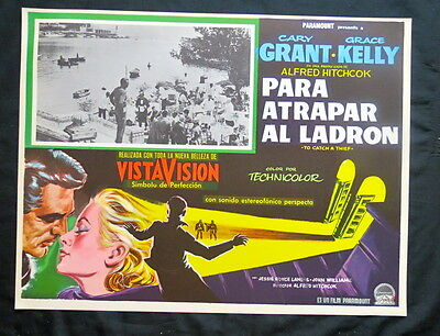 To Catch A Thief Gary Grant 1955 Alfred Hitchcock Near Mint Lobby Card Vintage