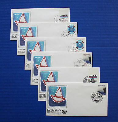 United Nations - 1983 Safety at Sea FDC set