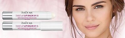 Isadora Twist-up Lip Balm SPF15 with nourishing natural oils new