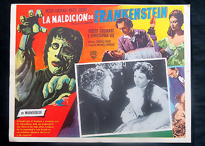"""""""the Curse Of Frankenstein"""" Christopher Lee Hammer Peter Cushing Lobby Card 1957"""